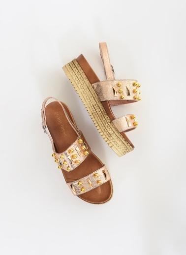 D by Divarese Hasır Tabanlı Sandalet Pembe